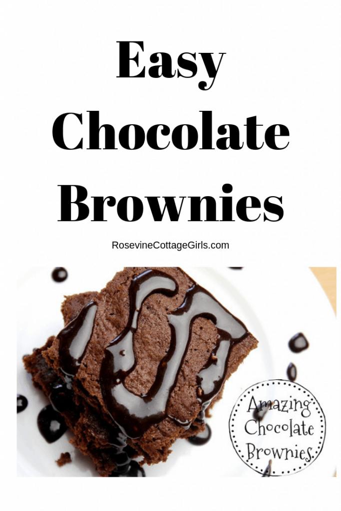 Chocolate Brownies, Easy Chocolate Brownies, Chocolate Brownies from scratch, organic chocolate brownies by Rosevine Cottage Girls
