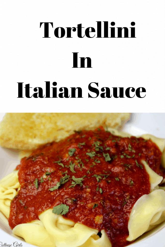 Tortellini with Italian sauce | Homemade Tortellini Recipe From Scratch #rosevinecottagegirls