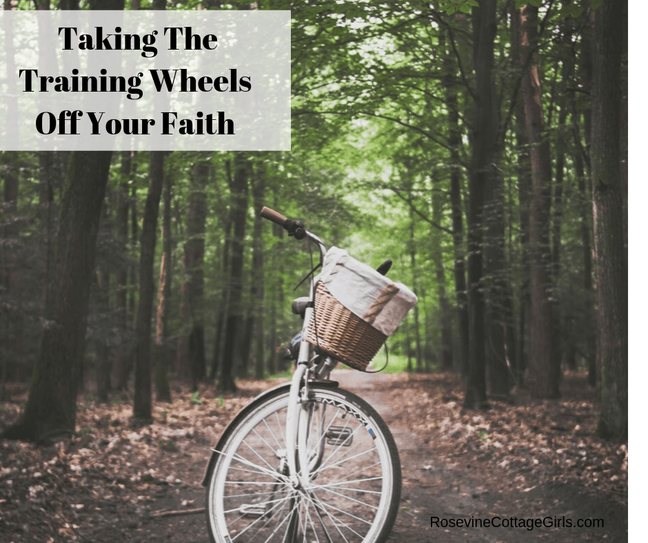 Taking the training wheels off your faith, trusting God, How To Trust God, Growing in your faith, Rosevine Cottage Girls