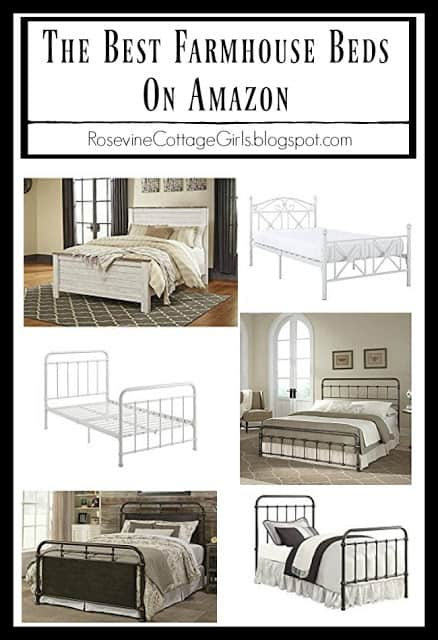 The Best Farmhouse Beds on Amazon, Farmhouse Furniture, Farmhouse Beds Bedroom Furniture for your farmhouse, by Rosevine Cottage Girls