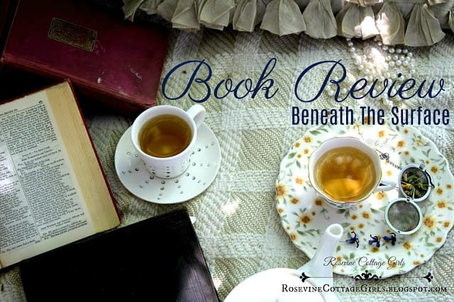 Beneath the Surface book review, Beneath the surface book, Lynn Blackburn book review by rosevine cottage girls