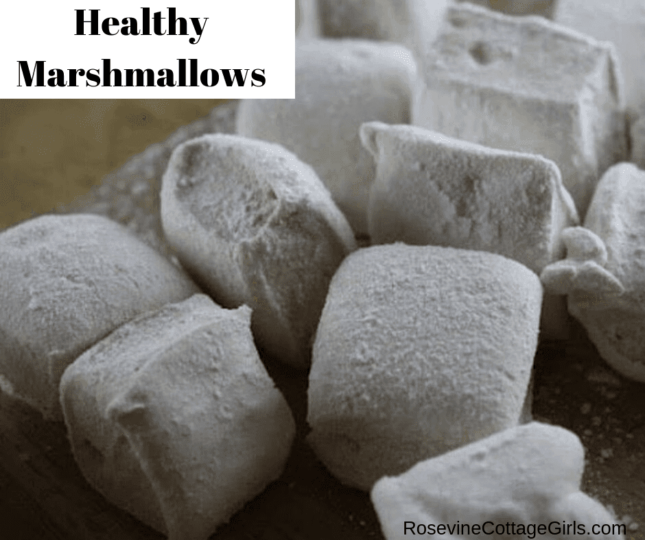 Healthy Marshmallows, Homemade Marshmallows, how to make marshmallows by rosevine cottage girls