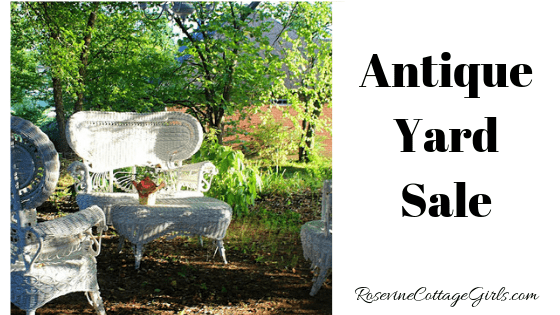 Antique Yard Sale, Hunting Antiques at yard sales, Tennessee Antique Yard Sales by Rosevine Cottage Girls