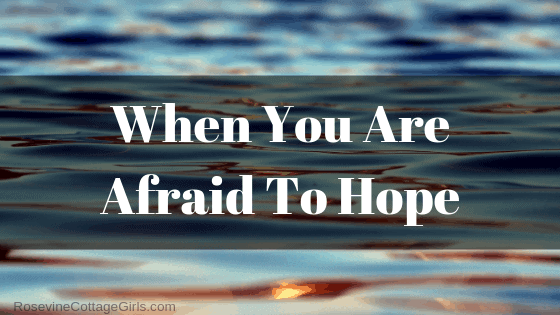 When you are afraid to hope, When you feel hopeless, when you are battered, when you are about to give up by rosevine cottage girls