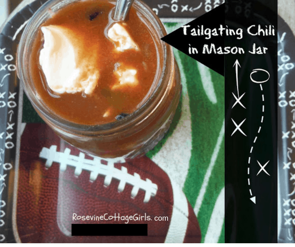 Tailgate Chili, Tailgating Chili, Four Bean Chili, Beef and Bean Chili, Tailgating Food, by Rosevine Cottage Girls