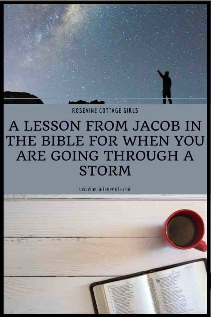 Man looking at the stars, bible on a table with coffee | What Jacob In The Bible Can Teach Us About Weathering A Storm
