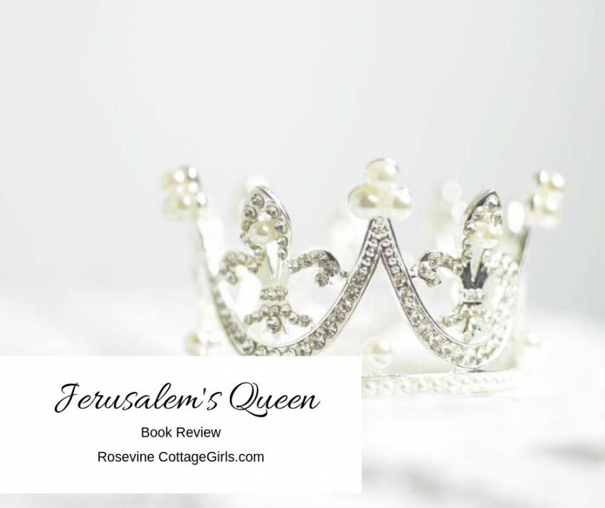 Jerusalem's Queen Book Review, Angela Hunt Book Review by Rosevine Cottage girls