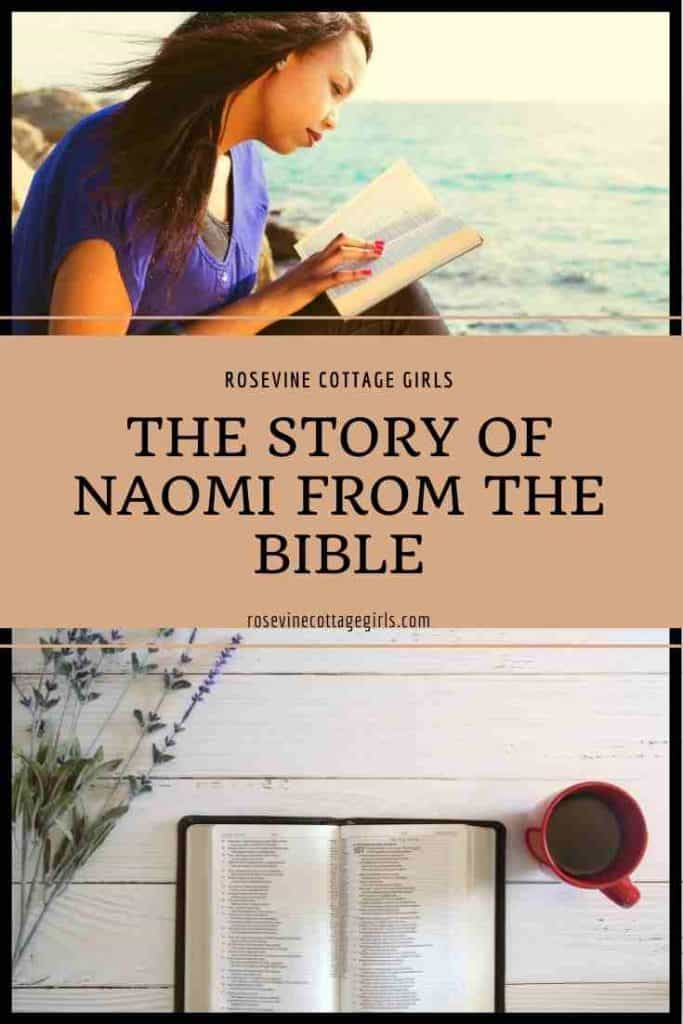 Woman studying the bottle | The Story Of Naomi From The Bible