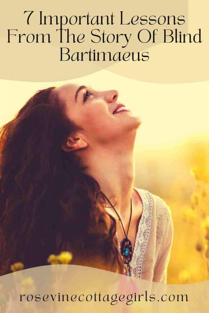 Woman with hair down looking up to the sky smiling   7 Important Lessons From The Story Of Blind Bartimaeus