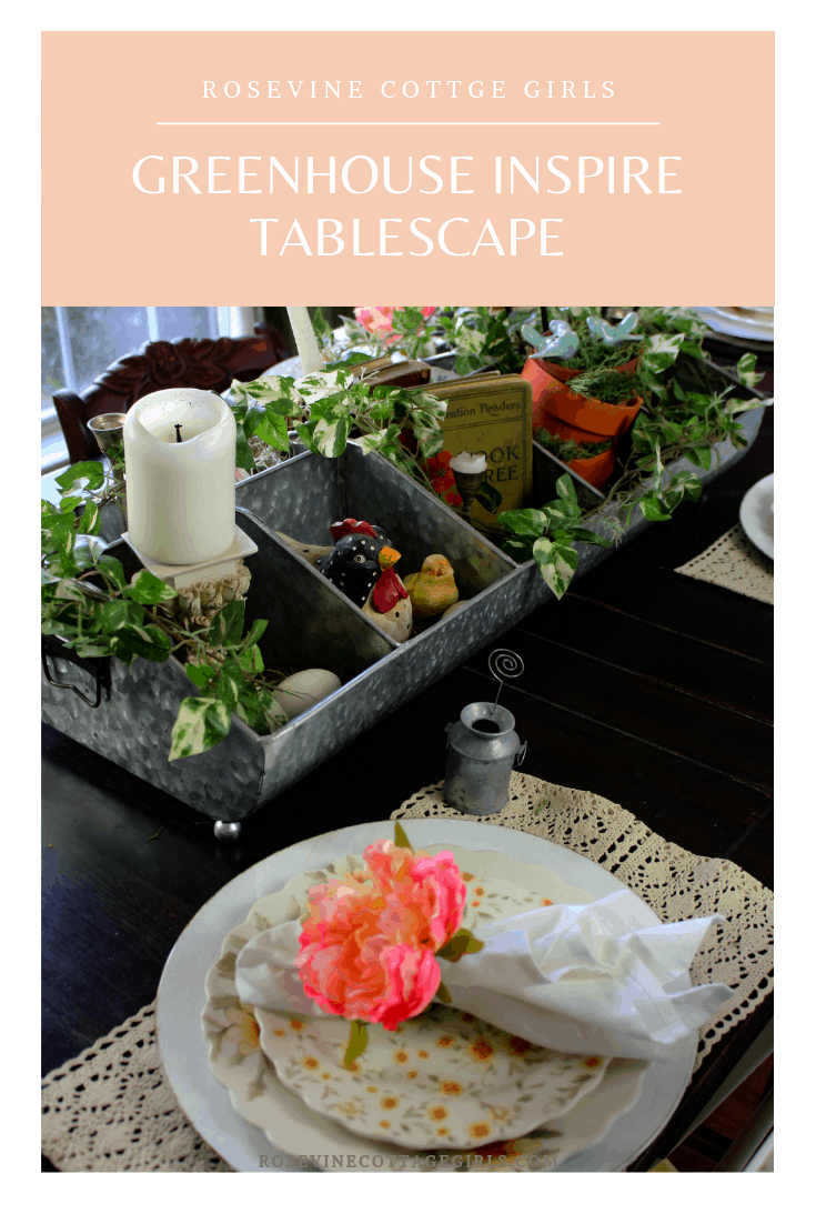 greenhouse inspired tablescape