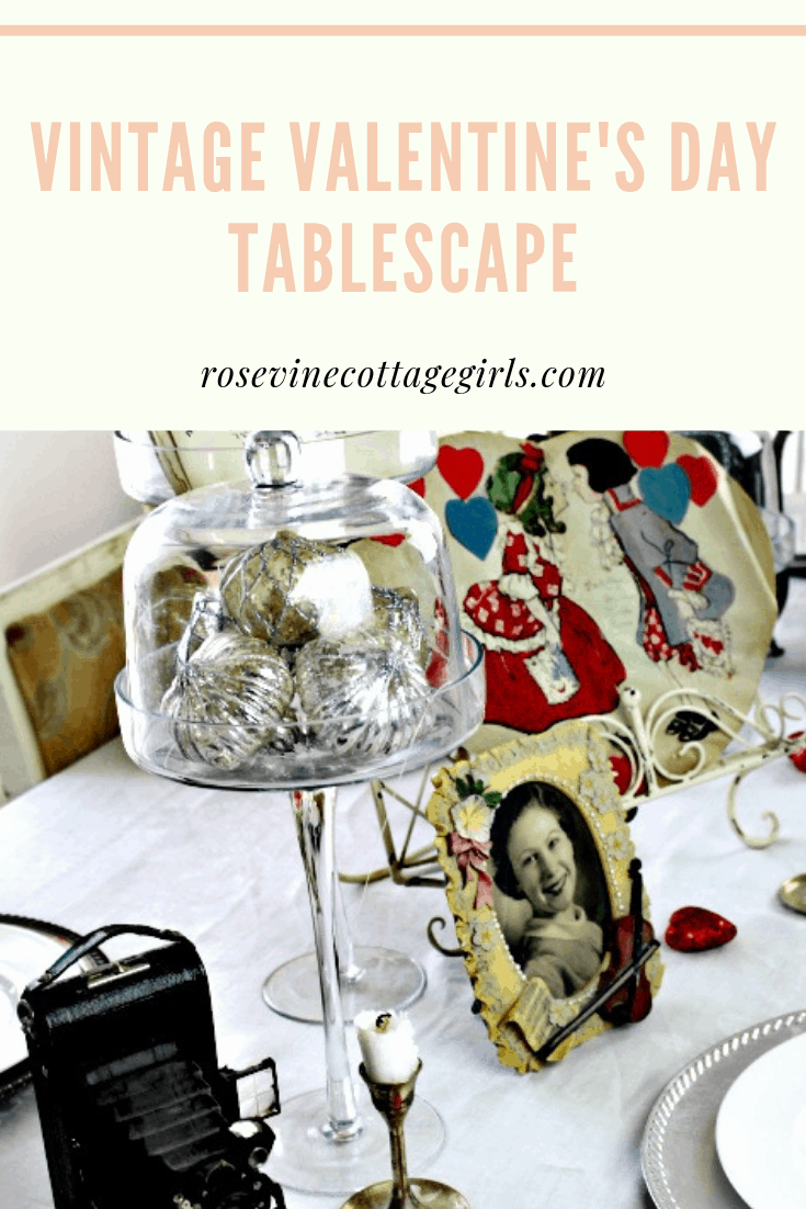 vintage valentine's day tablescape