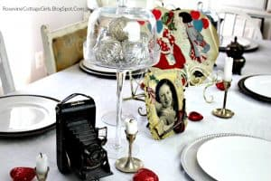 Vintage, Cottage, Decor, Decorating, Silver, table decor