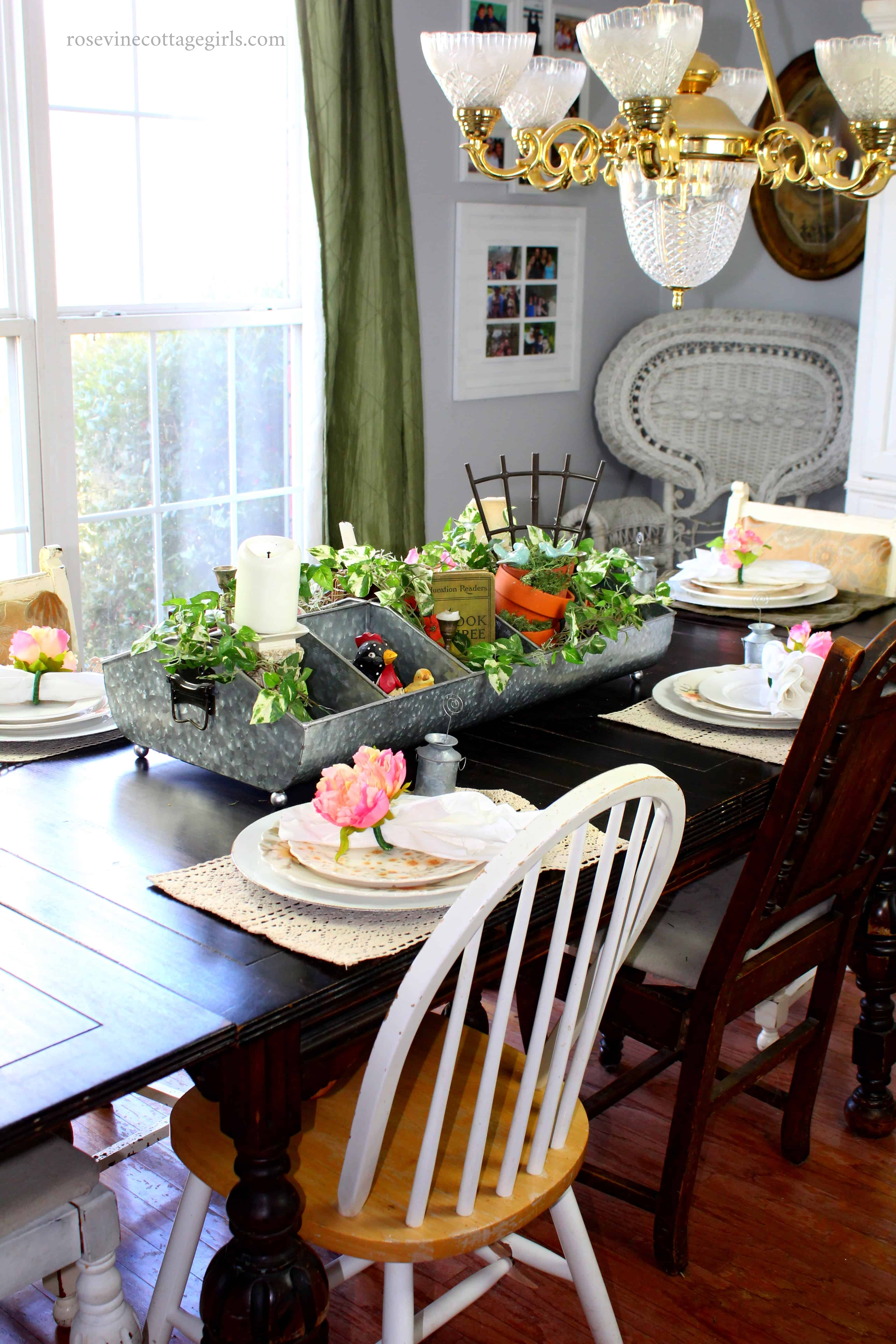 greenhouse tablescape