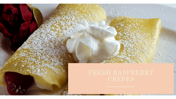fresh raspberry crepes