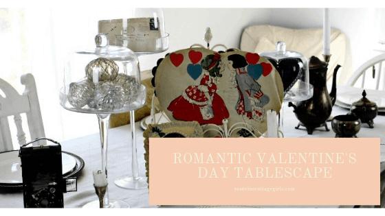 romantic valentines day tablescape