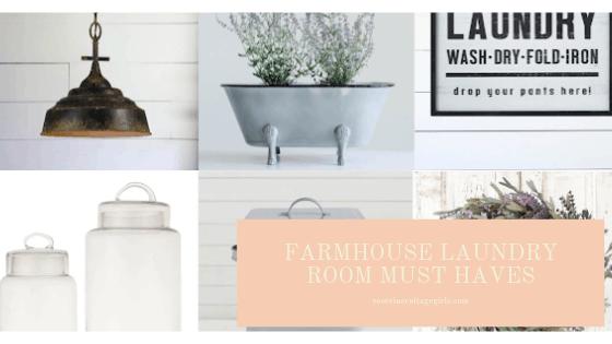 Farmhouse laundry room must haves, farmhouse laundry room, farmhouse makeover, laundry room makeover, cute farmhouse decor for your laundry room