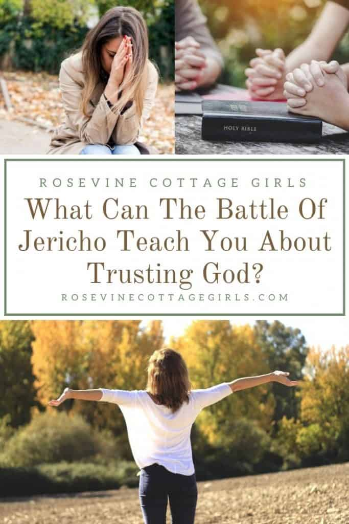 Woman praying and worshiping | How The Battle Of Jericho Can Help You Trust God #rosevinecottagegirls