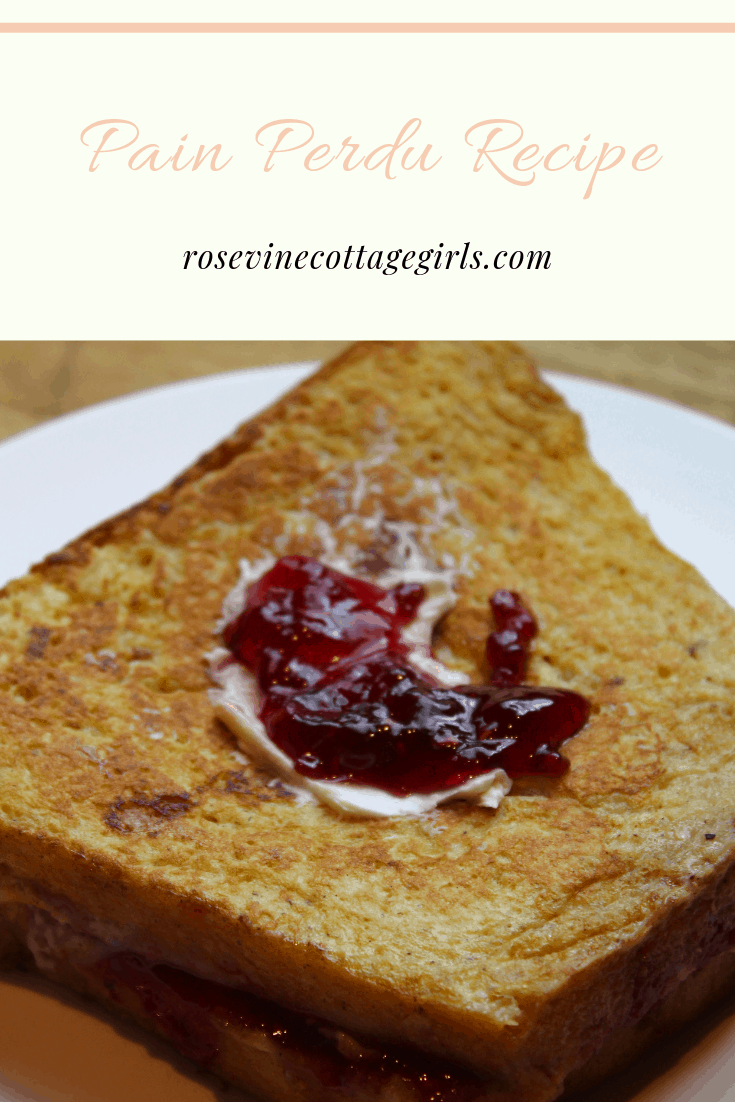 Pain Perdu, double french toast, cream cheese stuffed french toast, french toast Easy Breakfast Recipe