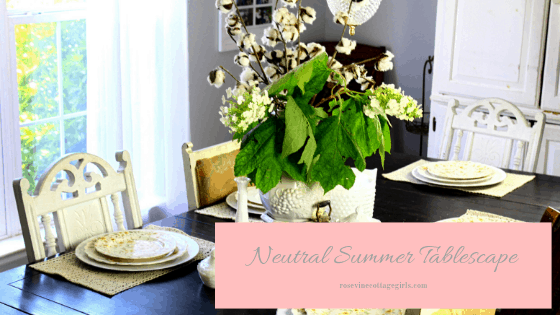 Neutral summer tablescape