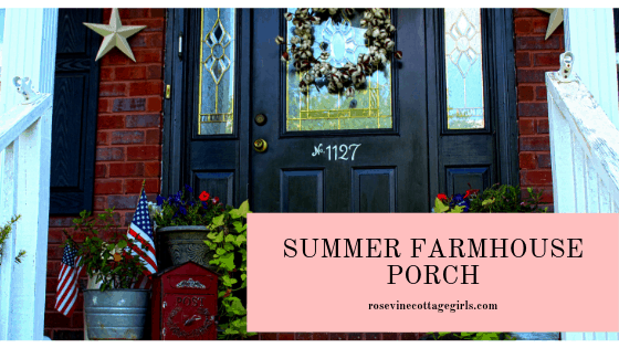 gorgeous summer farmhouse porch