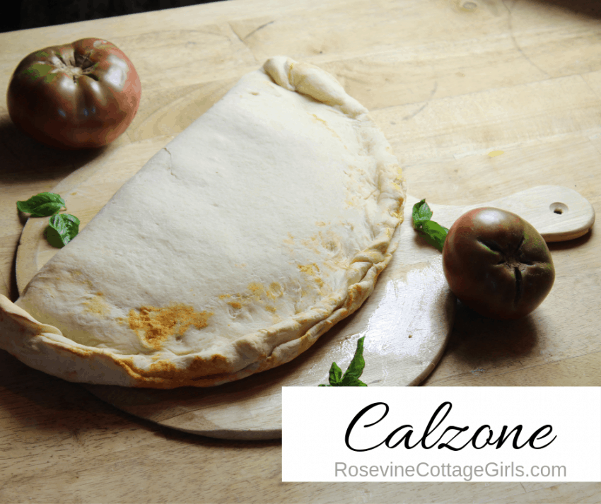 photo of a Calzone, Calzone Recipe, Italian Recipe, How to make Calzone, Easy Calzone, by Rosevine Cottage Girls