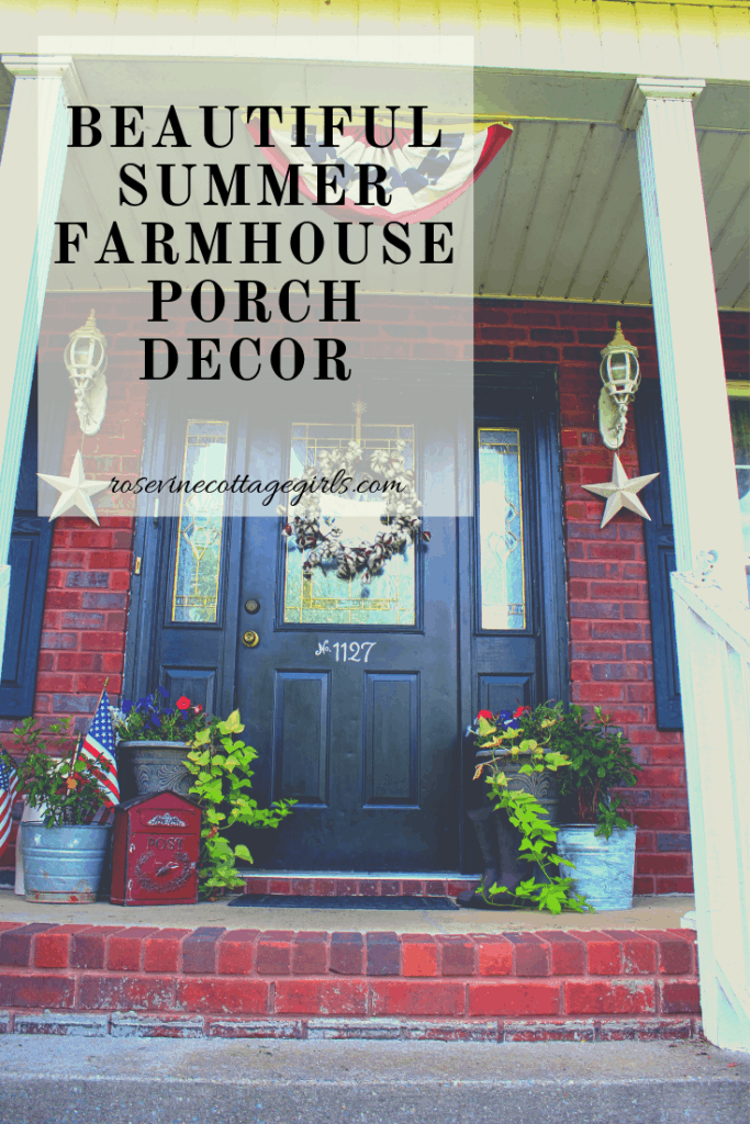 gorgeous southern charm, cape code style home summer farmhouse porch by the Rosevine Cottage Girls #porchdecor #decoratingaporch