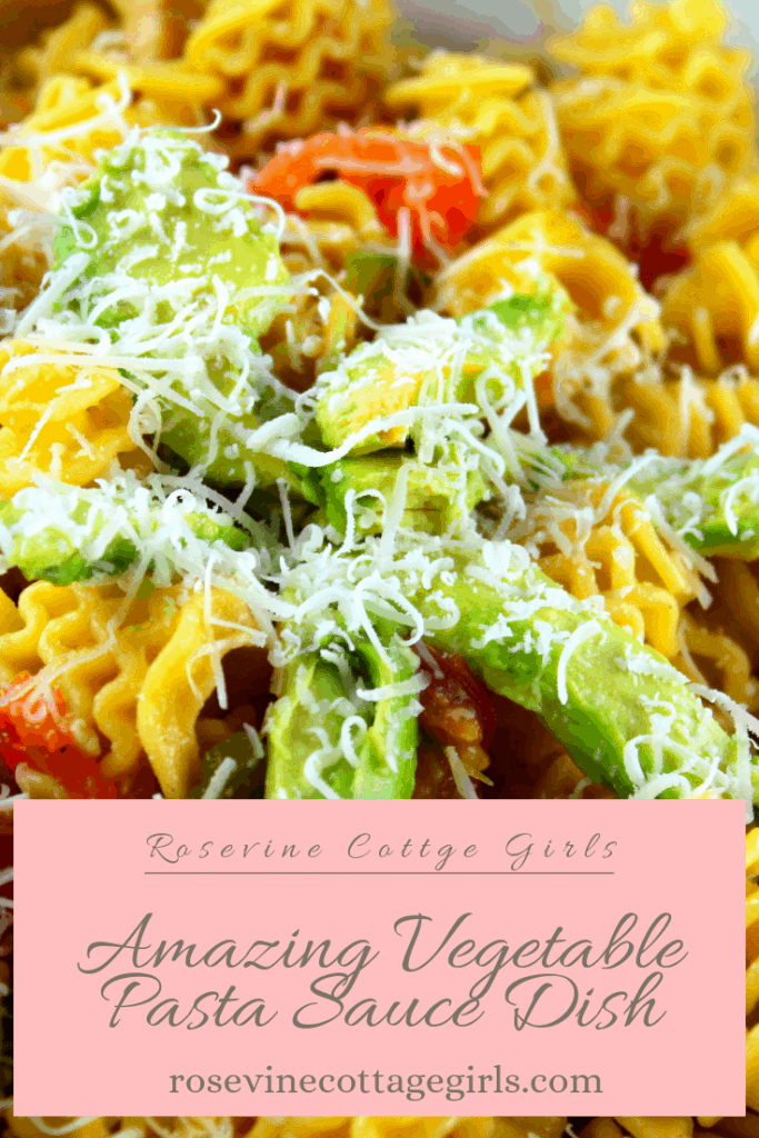 vegetable pasta sauce dish