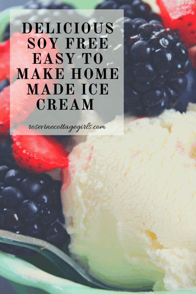 Amazing soy free vanilla ice cream that is easy to make at home