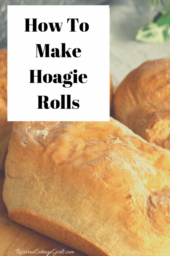 photo of Hoagie grinder rolls on white cloth. | Text - how to make Hoagie Rolls | RosevineCottageGirls.com | Hoagie Rolls, Hoagie Roll Recipe, Homemade Hoagie Rolls, How to make Hoagie Rolls, Hoagie Rolls from Scratch