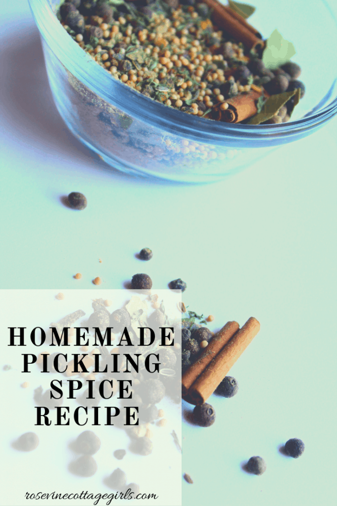 How to to make homemade pickling spice recipe that is easy to make and tastes just like the store bought kind. #RosevineCottageGirls #Recipe #PicklingSpice #homesteadrecipes
