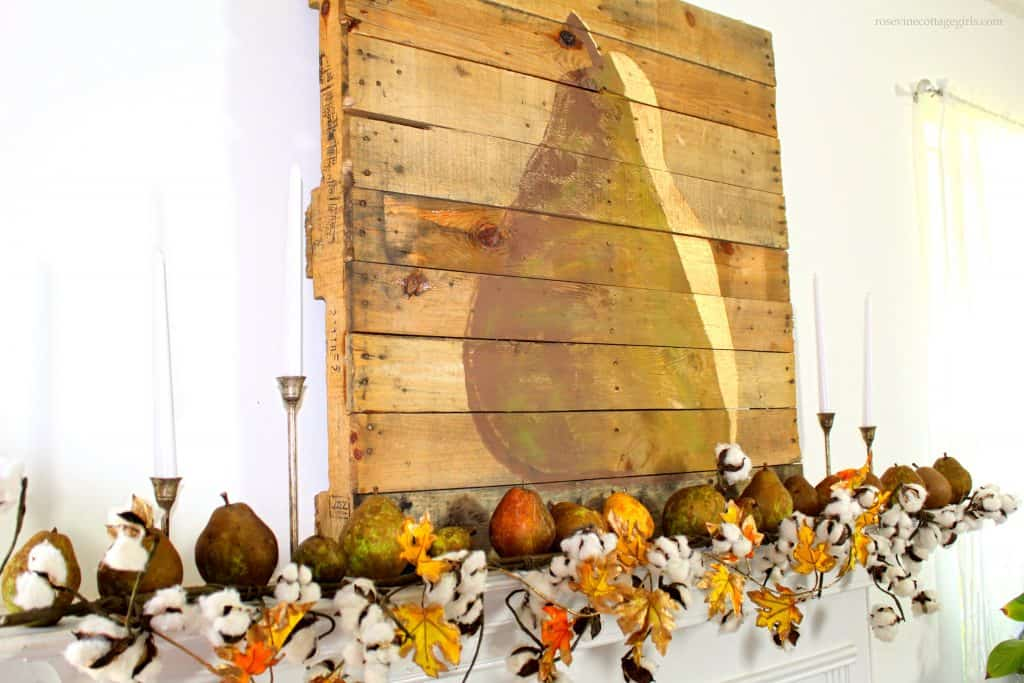 Gorgeous rustic fall farmhouse pear decor #RosevineCottageGirls