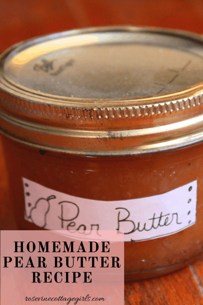 Homemade pear butter recipe