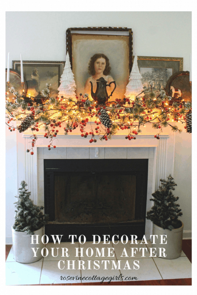 Time to say goodbye to your cozy Christmas decor? We'll show you how to decorate your home after Christmas for a warm cozy look you'll love. #winterhomedecorations