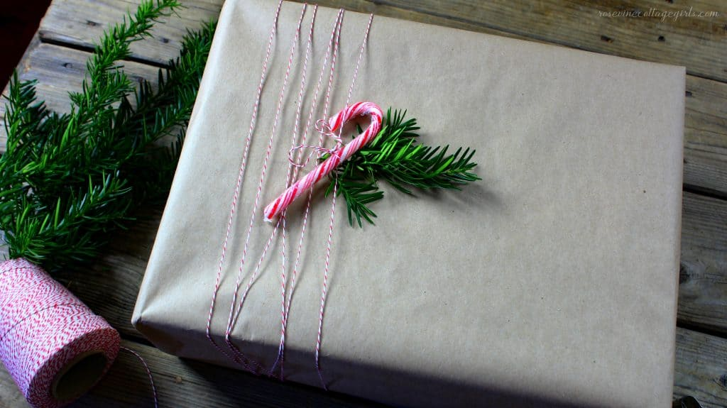 brown paper gift wrapping ideas