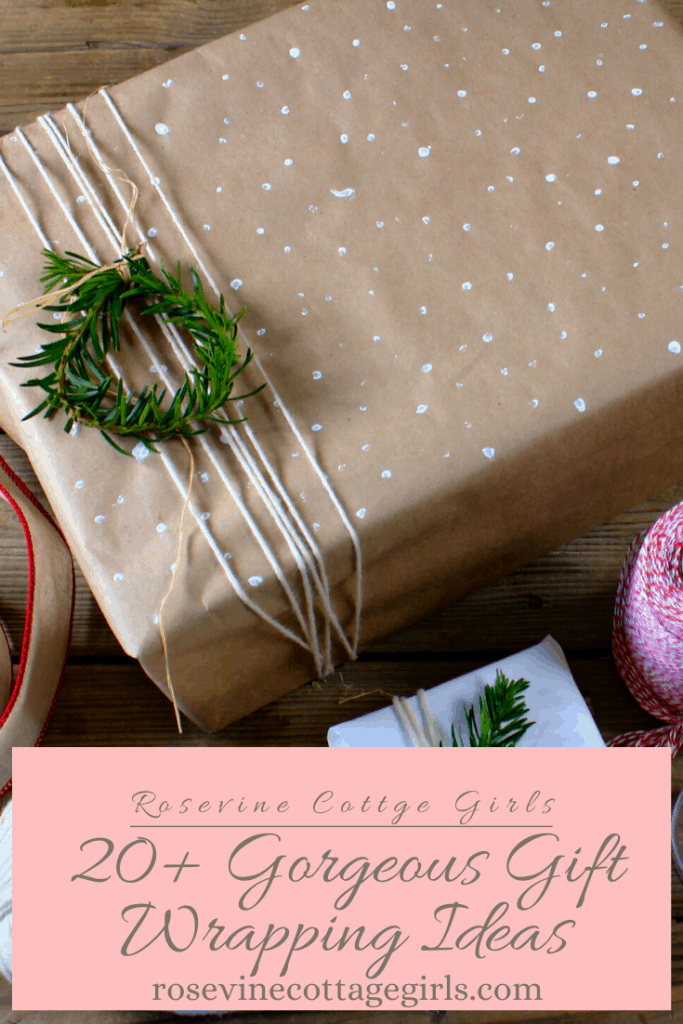 20+ gorgeous gift wrapping ideas to create that cozy Christmas look beneath your tree #rosevinecottagegirls