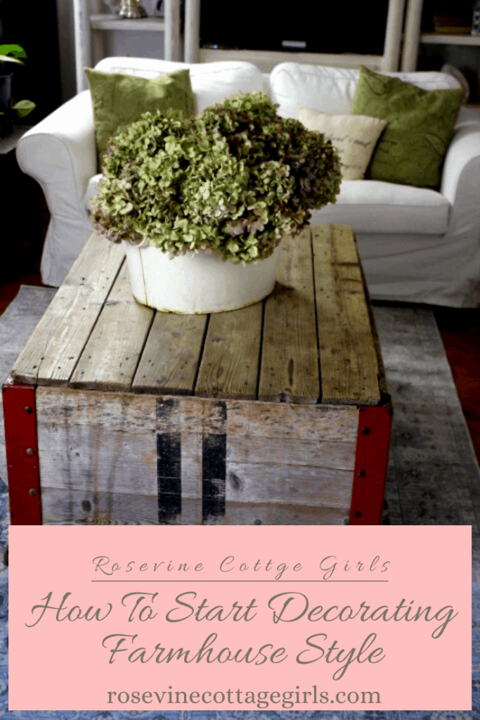 How to decorate farmhouse style #rosevinecottagegirls