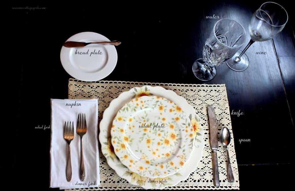How to set a table for dinner #RosevineCottageGirls