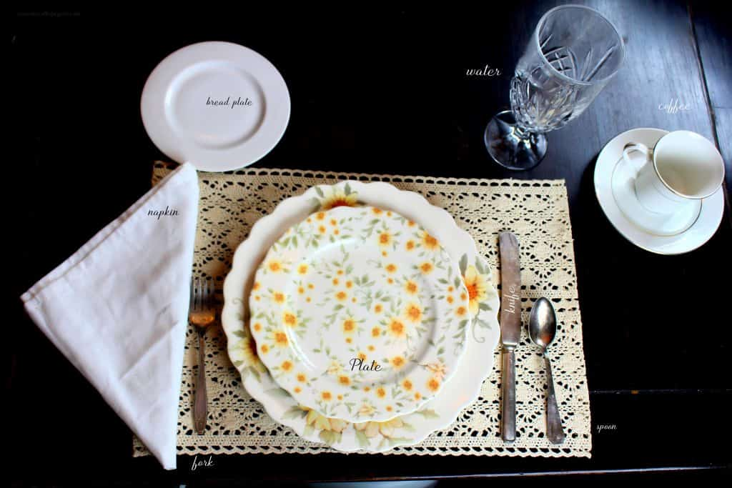 How to set a table for breakfast, quick and easy directions for setting a basic table.