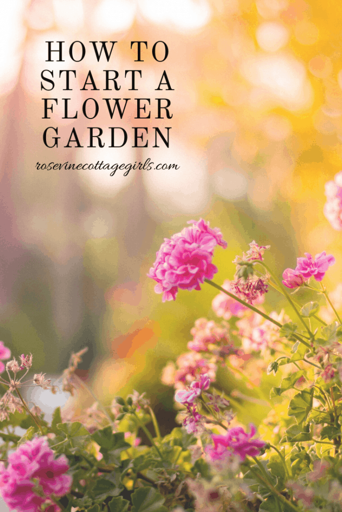 How to start a flower garden in your own backyard, tips, tricks, and advice, to do it like a pro. #RosevineCottageGirls