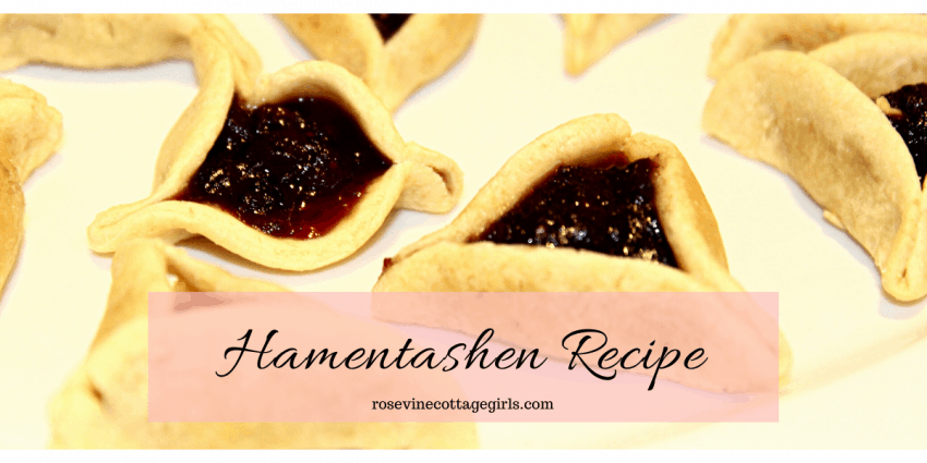 photo of hamentashen or Hamen's ears or Hamen's hat cookies | How to make hamentashen from scratch | rosevinecottagegirls.com