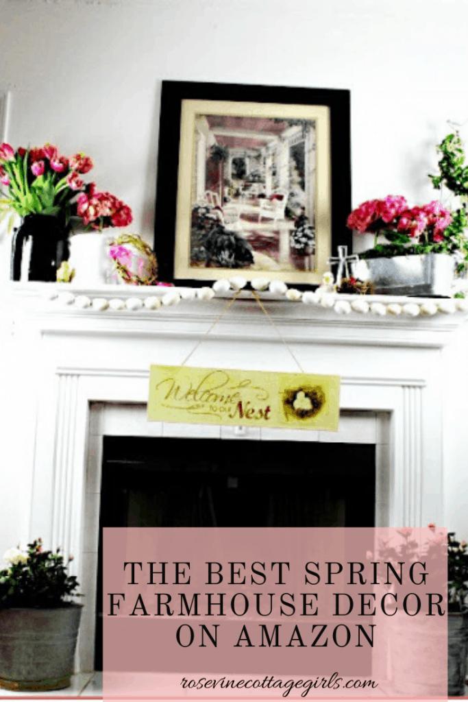 The best spring farmhouse decor on Amazon for your farmhouse! #RosevineCottageGirls