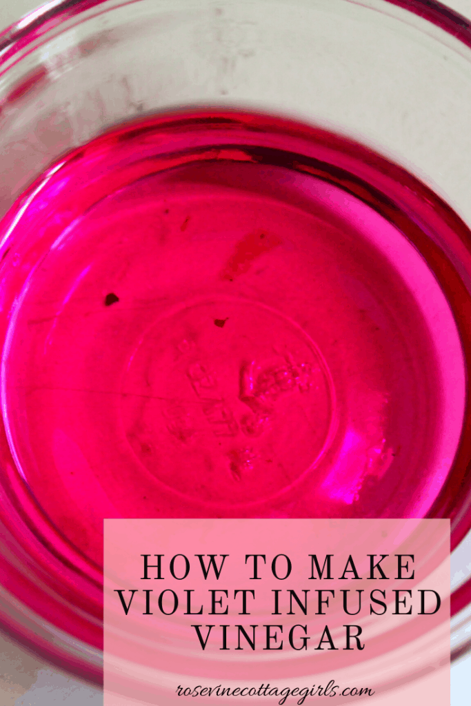 How to make violet infused vinegar