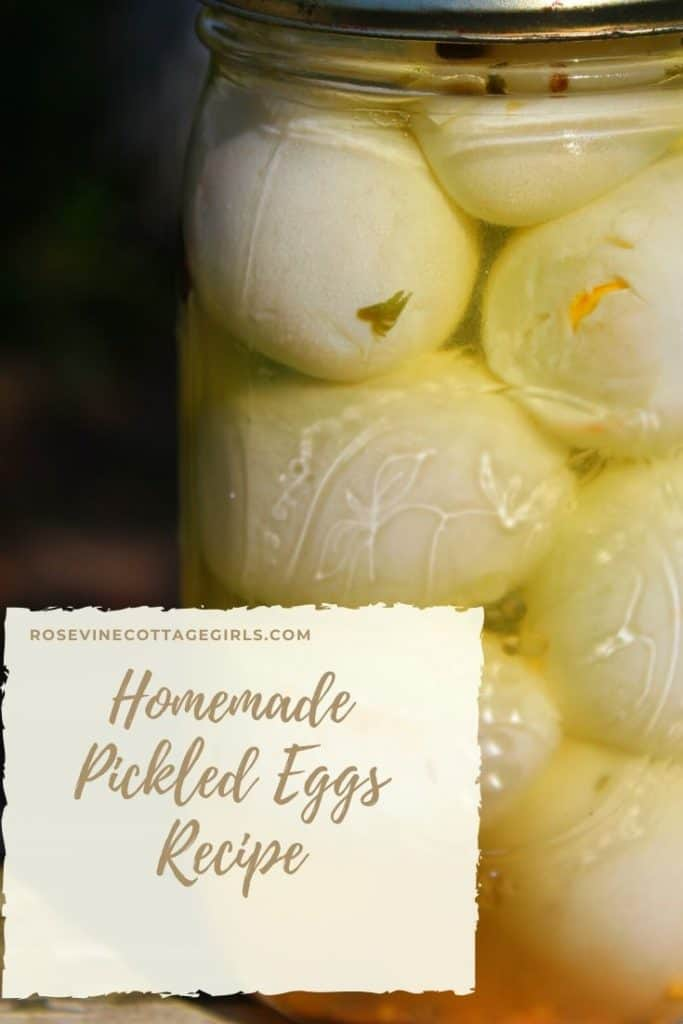 how to make homemade pickled eggs quick and easy recipe #rosevinecottagegirls