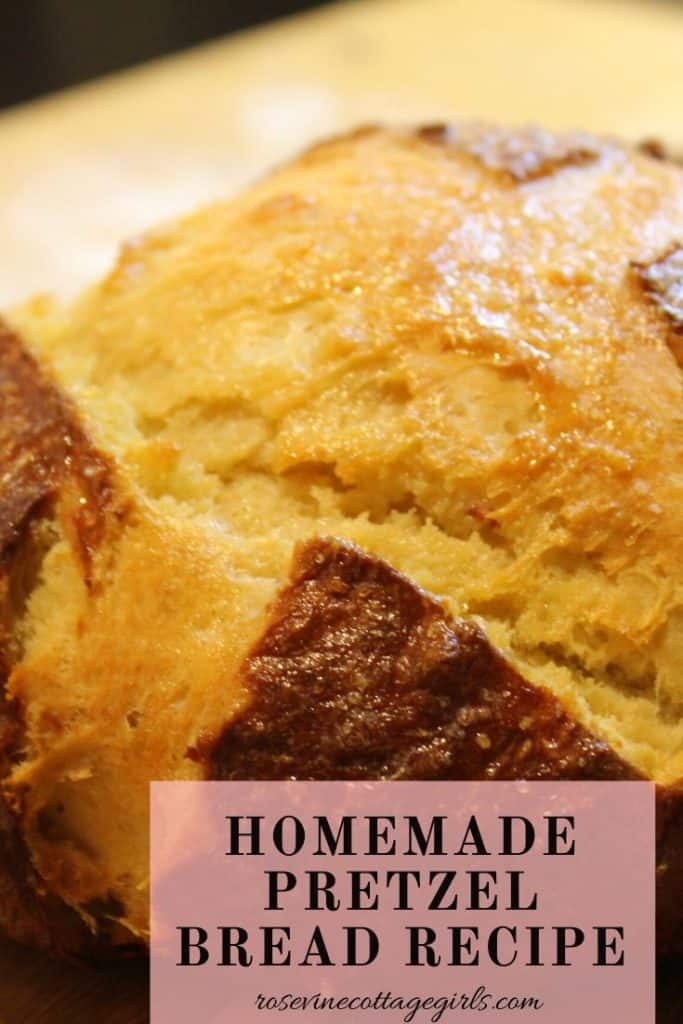 How to make homemade pretzel bread recipe #rosevinecottagegirls