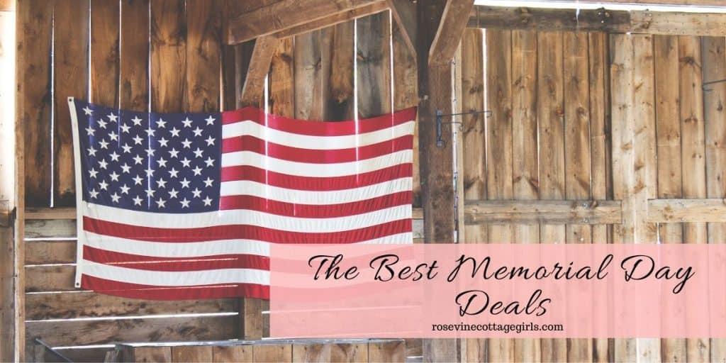 American Flag against barn wood