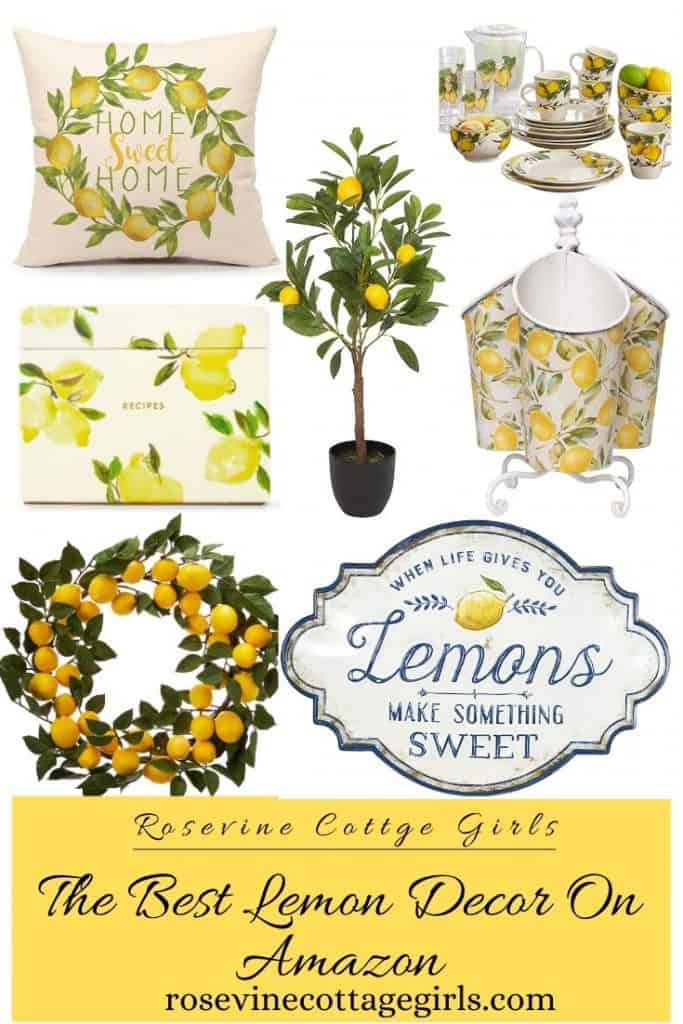 Beautiful lemon decor | The best lemon decor on Amazon #rosevinecottagegirls