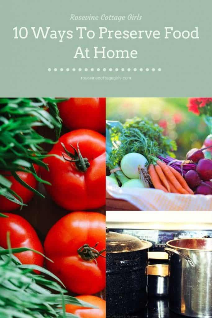 Vegetables and canning pots | Home Food Preservation #rosevinecottagegirls