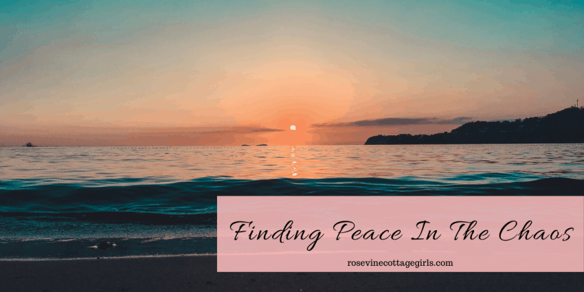 Sun setting on the ocean | Finding peace in chaos