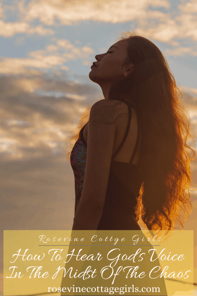 Woman with long hair standing in sunshine | Hearing God's Voice In The Chaos