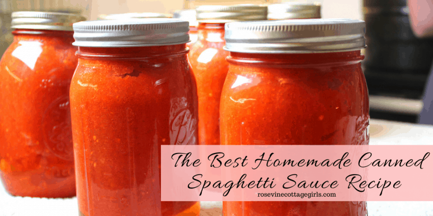 Jars of Homemade Canned Spaghetti Sauce Recipe